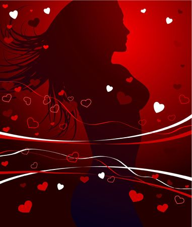 outstretched: Sexy Valentines Day Background Original Vector Illustration
