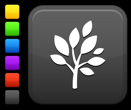 reflection of life: Original vector icon. Six color options included.