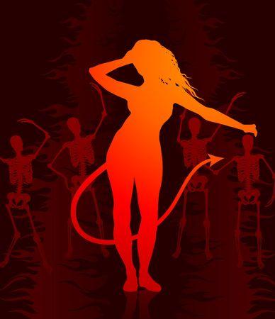 she devil: She devil in hell background