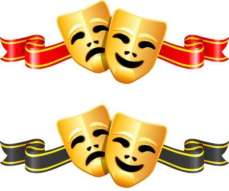 劇場マスク: 喜劇と悲劇