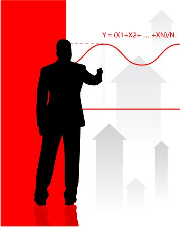mathematical proof: Business man Silhouette background