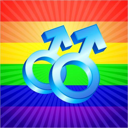 symbol rainbow background