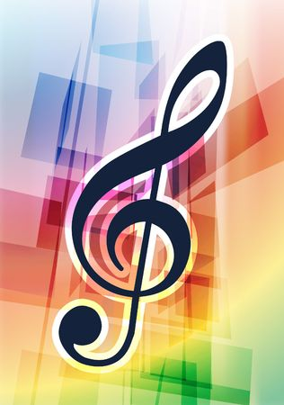 Musical Notes on Abstract Background Original Vector Illustration illustration