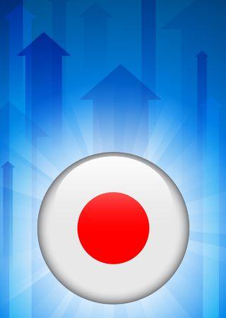 Het pictogram van de vlag van Japan op Internet knop Originele vectorillustratie Stockfoto