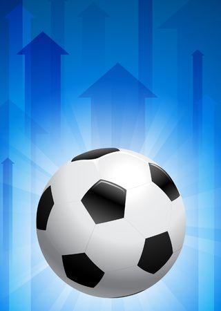 Soccer Ball on Blue Arrow BackgroundOriginal Vector Illustration Stock Illustration - 6441155