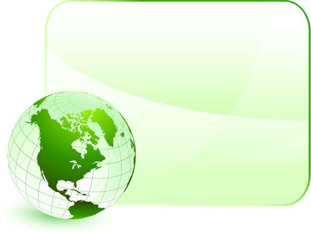 Green globe with blank backgroundOriginal Vector IllustrationGlobes and Maps Ideal for Business Concepts