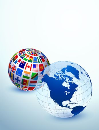Globe Set Original Vector Illustration illustration