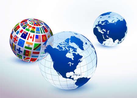 Globe Set Original Vector Illustration illustration