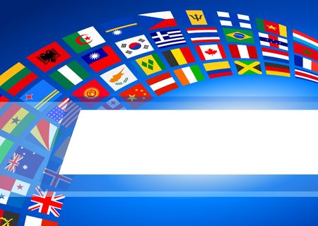 Flags Banner Background Original Vector Illustration illustration