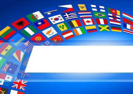 Flags Banner Background Original Vector Illustration illustration