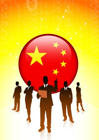 Chinese economic business team Original Vector Illustration illustration
