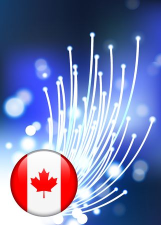 Internet Background with Canada Internet Button Original Vector Illustration