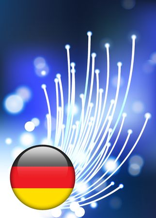 Germany Internet Button with fiber optic background Original Vector Illustration