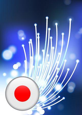 De Knoop van Japan Internet op Vezel Optische Originele Vectorillustratie Als achtergrond