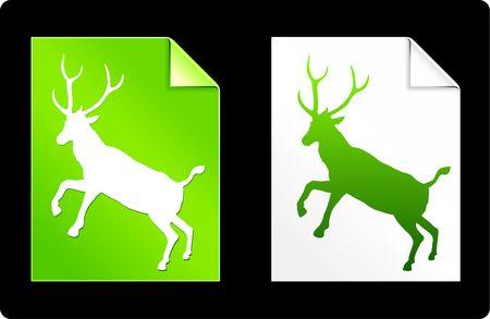 Deer Pages Collection Original Vector Illustration illustration