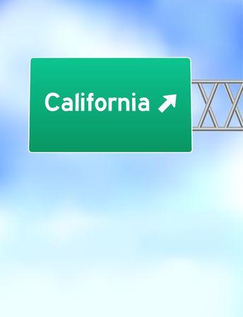 California Highway SignOriginal Vector Illustration Stock Illustration - 6441302