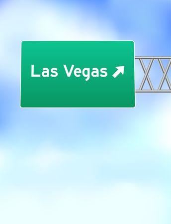 Las Vegas Highway Sign Original Vector Illustration illustration