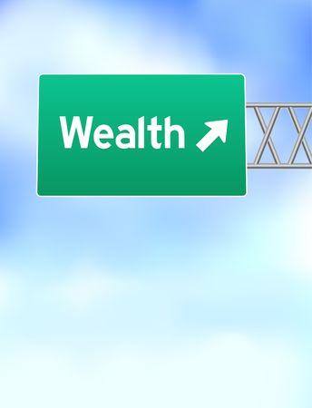 wealth Highway Sign Original Vector Illustration illustration