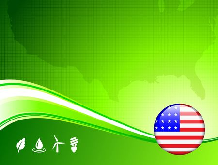 Green environment concept with American Internet Button Original Vector Illustration illustration