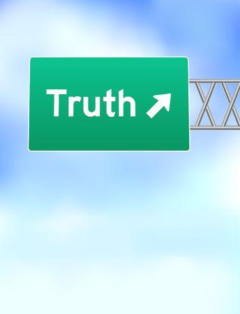 Truth Highway Sign Original Vector Illustration illustration