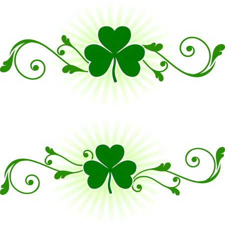digitally generated image: St. Patricks Day card background