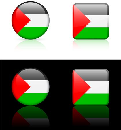 palestine Flag Buttons on White and Black Background  photo