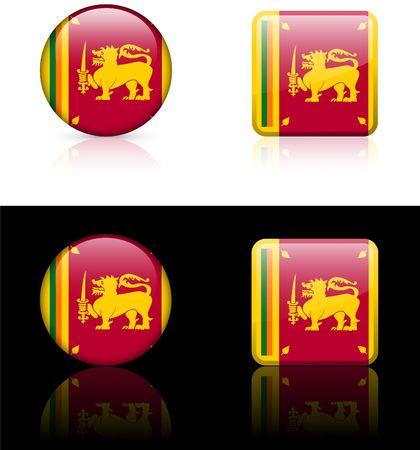 srilanka: Srilanka Flag Buttons on White and Black Background
