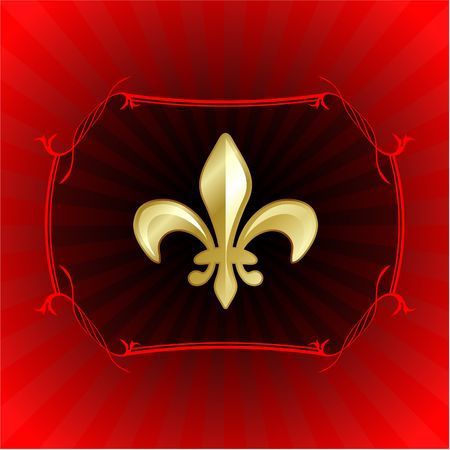 fleur de lis on red internet background  photo