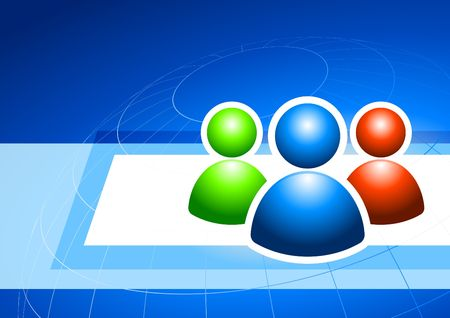user group on internet background