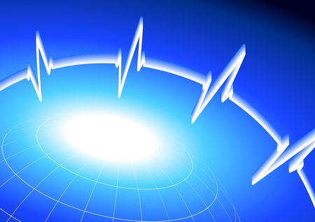 businesses: heart rate pulse on business background  Stock Photo
