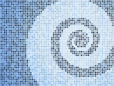 swirl square pattern internet background  Фото со стока