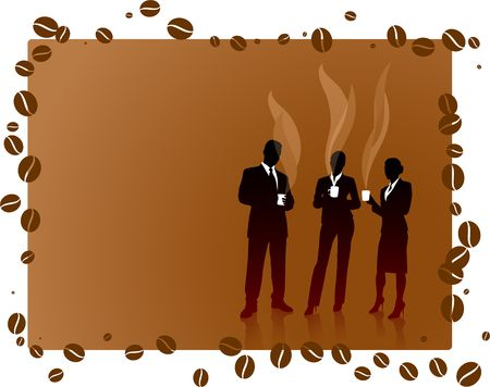 Business People on Coffee Break Original Vector Illustration illustration
