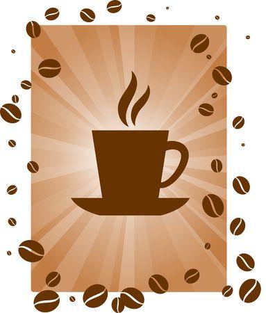 Hot Cup of Coffee Original Vector Illustration