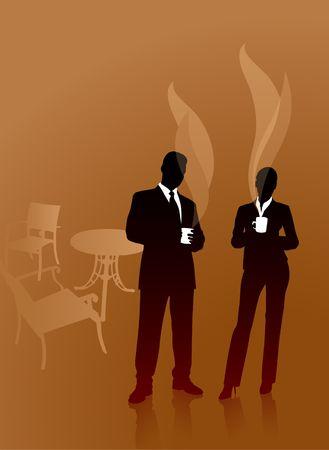 Business People on Coffee Break Original Vector Illustration illustration