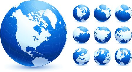 globes Original Vector Illustration Globes and Maps Ideal for Business Concepts  Stock Photo