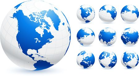 globes Original Vector Illustration Globes and Maps Ideal for Business Concepts  Zdjęcie Seryjne