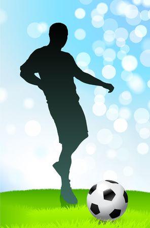 SoccerFootball Player Original Vector Illustration
