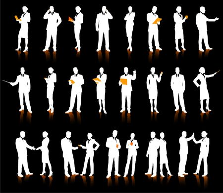 Business People Silhouette Super Set 26 unique high-detailed silhouettes featuring beautiful sexy models Each Silhouette is grouped File is AI 8 compatible and easy to manage  Stock Photo