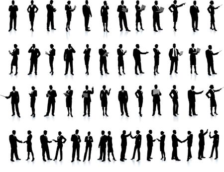 Business People Silhouette Super Set 52 unique high-detailed silhouettes featuring beautiful sexy models Each Silhouette is grouped File is AI 8 compatible and easy to manage  photo