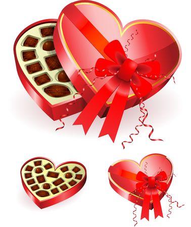 Chocoalte in Heart Box Original Vector Illustration Stock fotó