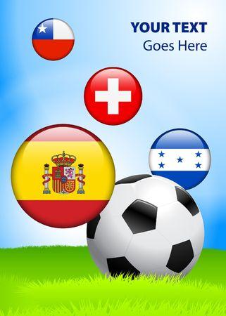 2010 Group H World Cup Original Vector Illustration AI8 Compatible illustration
