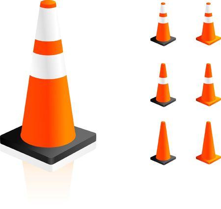 Traffic Cones Original Vector Illustration Simple Image Illustration Banco de Imagens
