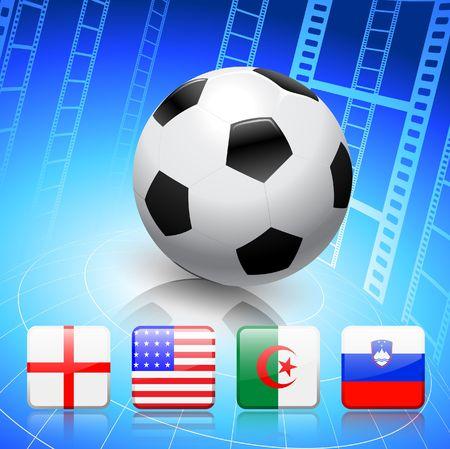 SoccerFootball Group C Original Vector Illustration illustration