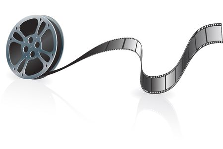 Film ReelOriginal Vector IllustrationFilm Reel Concept Stock fotó