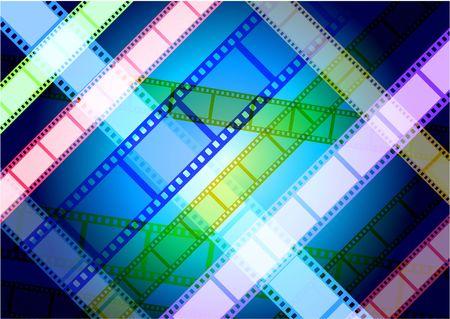 Film Reel Background Original Vector Illustration Film Reel Concept