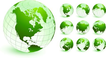 globes Original Vector Illustration Globes and Maps Ideal for Business Concepts  illustration