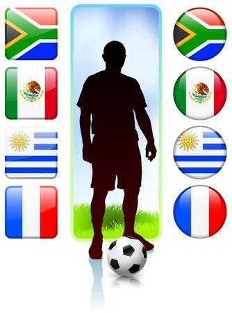 SoccerFootball Group A Original Vector Illustration illustration