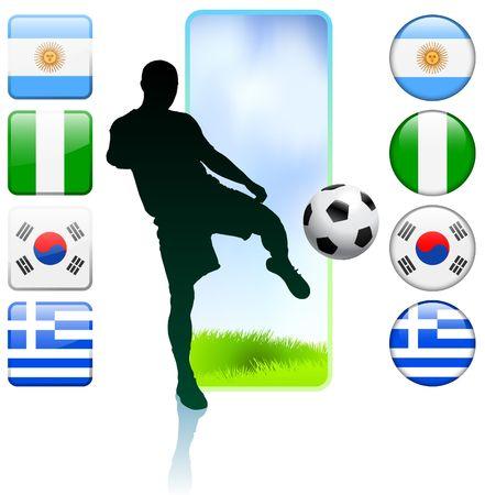 SoccerFootball Group B Original Vector Illustration illustration