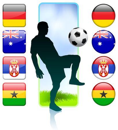 SoccerFootball Group D Original Vector Illustration illustration