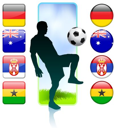SoccerFootball Group D Original Vector Illustration